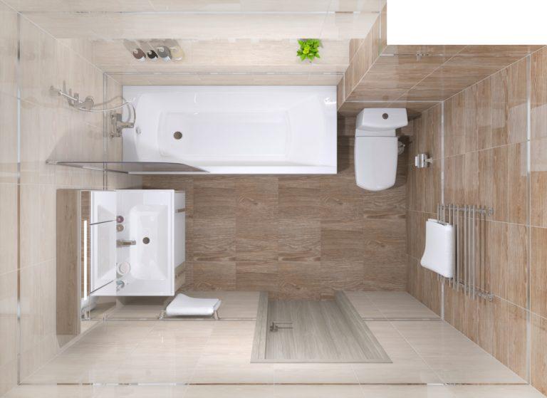 Раскладка плитки в ванной